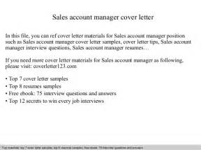 Account Manager Sales Cover Letter by Sales Account Manager Cover Letter