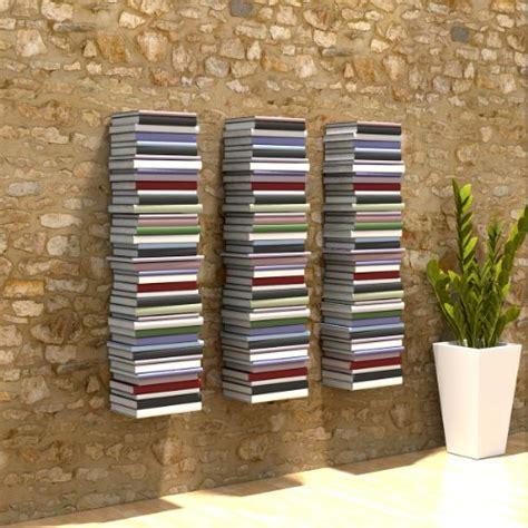 mensole per libri home3000 3 mensole libreria invisibili colore bianco