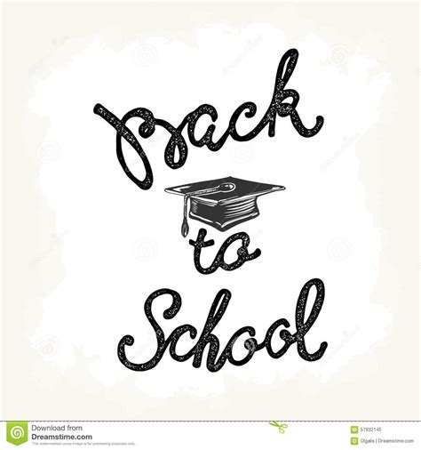back to school lettering or welcome back to school hand lettering sketch background