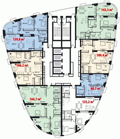 builder floor plans жк quot триколор quot high rise residential building search