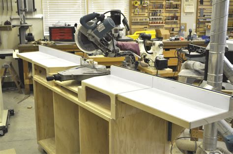 build miter saw bench how to build a miter saw table step by step impossible