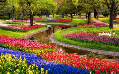 Garden Wallpapers Best Wallpapers Flower Garden Scenery