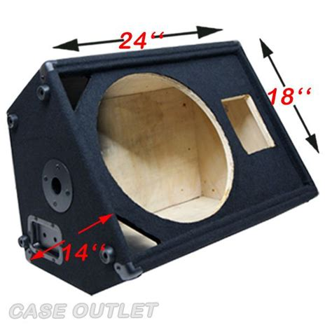 dj speaker box cabinet 1x15 with horn tweeter empty speaker cabinet floor