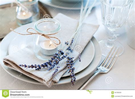 Fine Dining Table Set Up by Provence Style Table Setting Stock Photo Image 34780550
