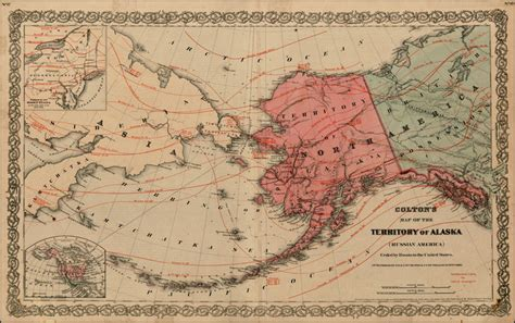 america russia map colton s map of the territory of alaska russian america