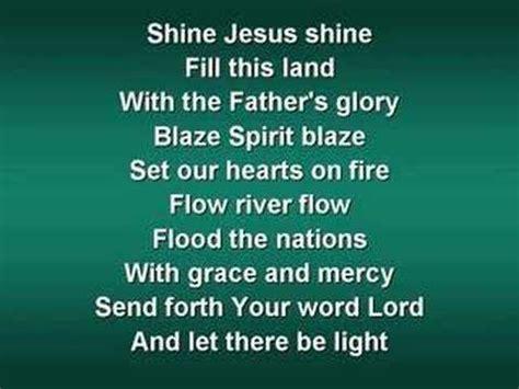 Christian Songs About Light by Shine Jesus Shine Worship W Lyrics