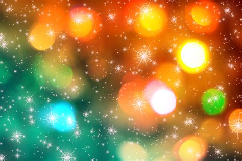 bright lights on multicolored background on christmas