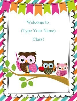 classroom door signs templates freebie customizable owl welcome sign by inspired owl s