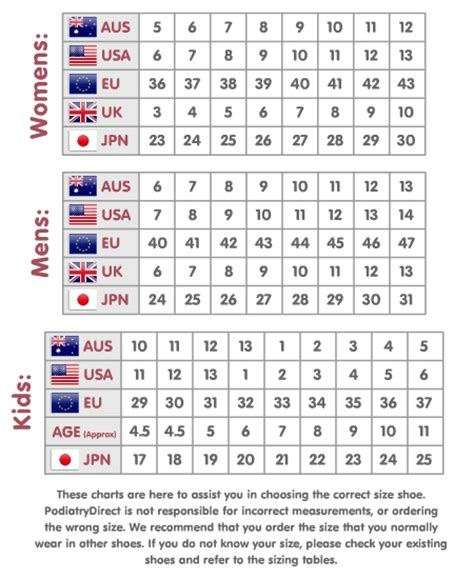 shoe size chart european to australian europe shoe size to australian