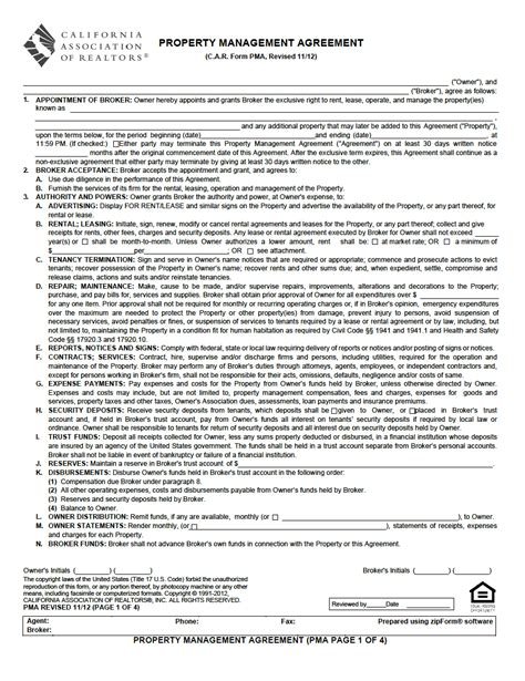 rental management agreement template property management agreement pdf property management