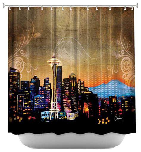 seattle curtain shower curtain artistic seattle skyline contemporary