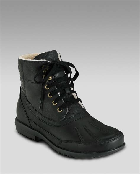 cole haan air rhone winter boot black in black for lyst