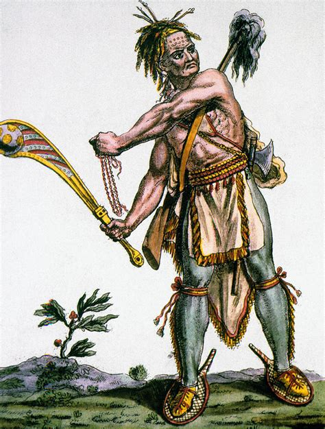 Native American Indian Home Decor iroquois warrior photograph by granger