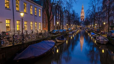 boat houses amsterdam amsterdam holland houses boat river night wallpaper 1920x1080 full hd
