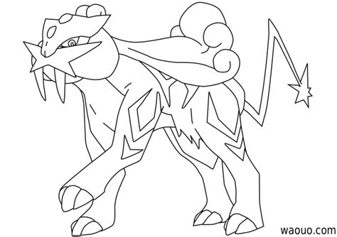 pokemon coloring pages raikou raikou coloring pages coloring pages