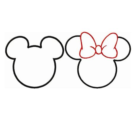 minnie mickey applique design work perfectly for templates