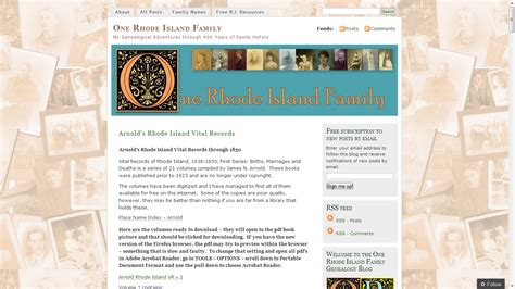 Rhode Island Records Free Genea Musings Free Rhode Island Resources At Diane Boumenot S Website