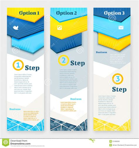 design banner vertical set of banner design template stock vector image 57406556