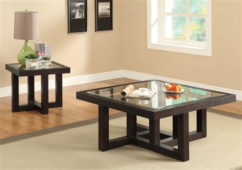 square glass coffee table contemporary coffee tables