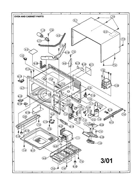sharp microwave parts diagram sharp microwave parts model r 3w96 sears partsdirect