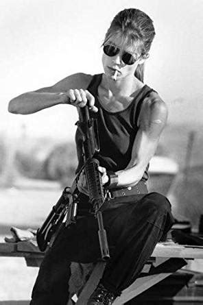 Linda Hamilton in Terminator 2: Judgment Day iconic Sarah