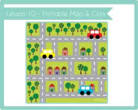 crafty academy lesson 10 printable road map cars