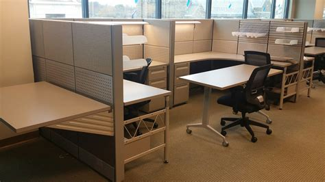 blend of new and used office furniture creates beautiful
