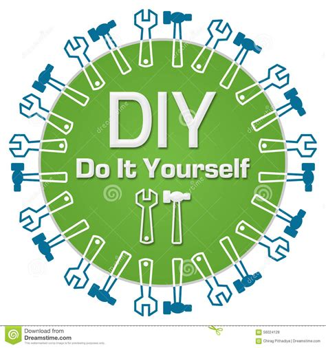 do it yourself diy do it yourself circular stock illustration image
