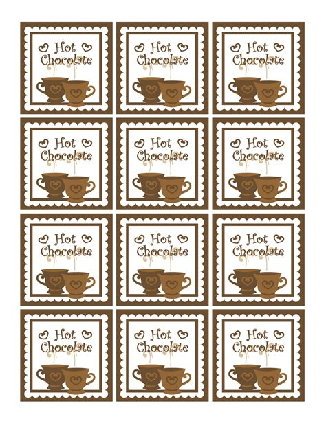 printable reindeer hot chocolate labels free christmas printables gift tags homemade gift ideas