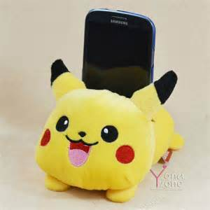 Clear Toaster Cute Pokamon Pikachu Mobile Phone Holder Lovely Plush