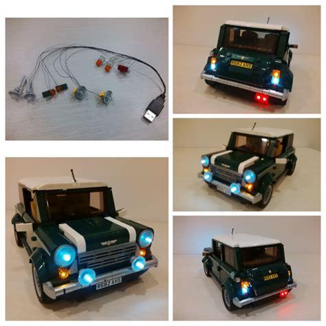 Led Usb Light Set Lego Mini Cooper 10242 lego model 10242 mini cooper lighting kit released