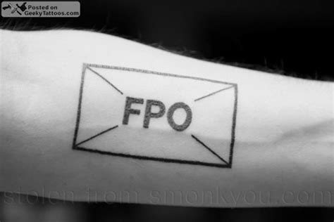 fpo geeky tattoos