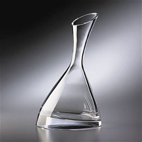 nambe barware nambe crystal tilt wine decanter
