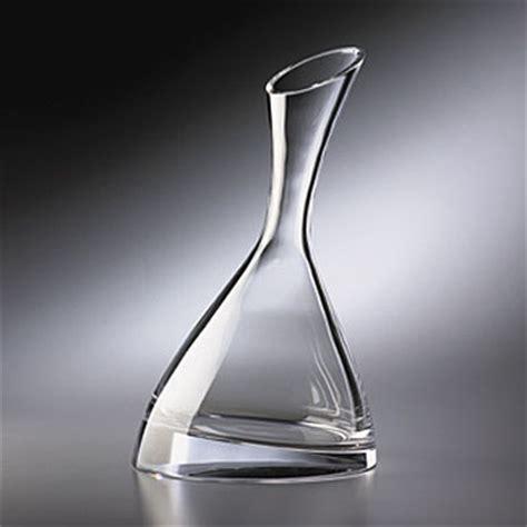 nambe barware nambe crystal tilt wine decanter