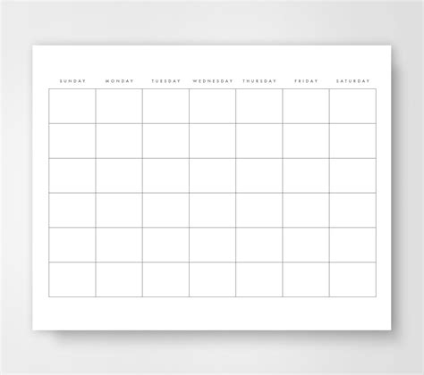 easy calendar template blank calendar calendar printable simple calendar journal