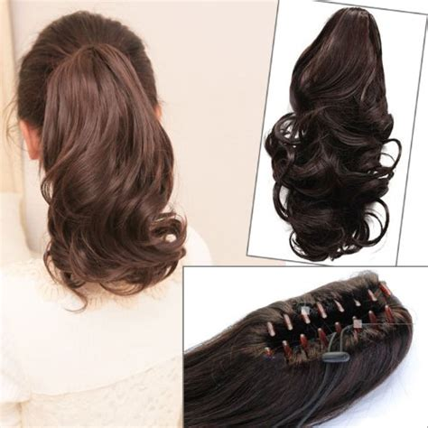 remy layered extenstions new fashion womens ladies medium wavy wave hairpiece remy