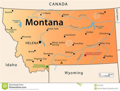 usa montana map montana map stock vector illustration of hill civil