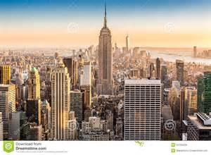 New york skyline on a sunny afternoon stock photo image 53728429