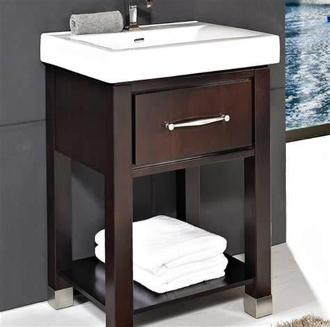bathroom vanity with shelves midtown 24 open shelf vanity espresso fairmont designs