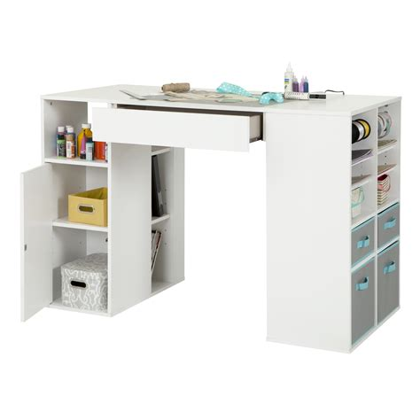 craft desk for south shore crea counter height craft table with storage