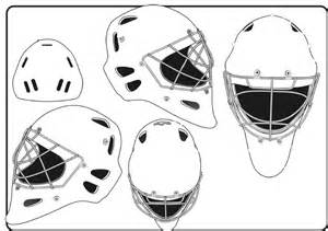 goalie mask design template goalie mask template different sides blank hockey mask