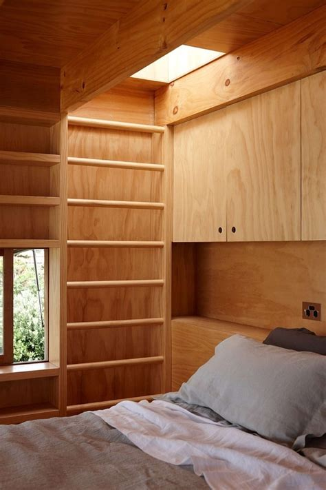 transportable and sustainable hut rests on 2 wooden