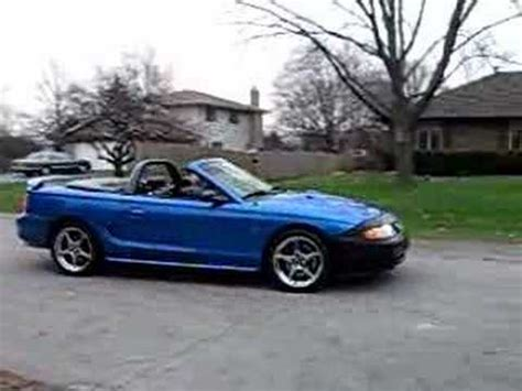 my 1998 ford mustang cobra convertible youtube