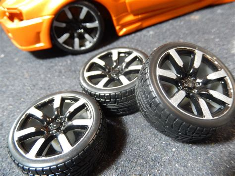 Burago Shell Set Isi 4 modified wheels and tyres 1 18 scale nissan skyline cs diecast tuning