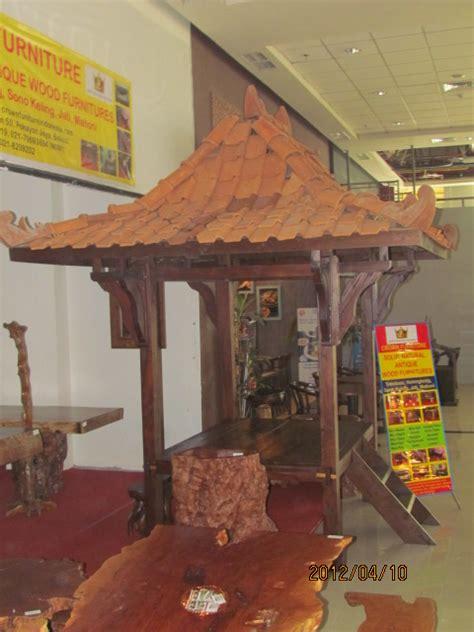 Meja Kayu Kelengkeng gazebo jawa kayu nangka 1 5m x 2m crown furniture indonesia