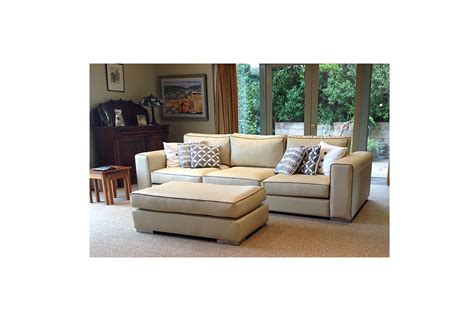 sofa with piping granada sofa in leather with contrast piping