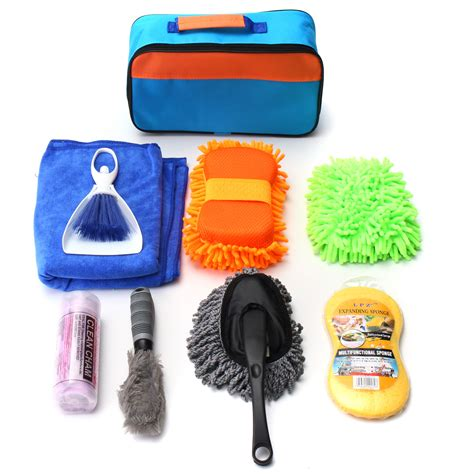 home products to clean car interior 9 pcs set car cleaning kit products tools wash clean