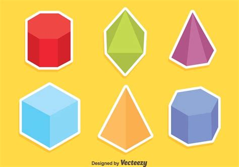 colored shapes colored geometric shapes vector free vector