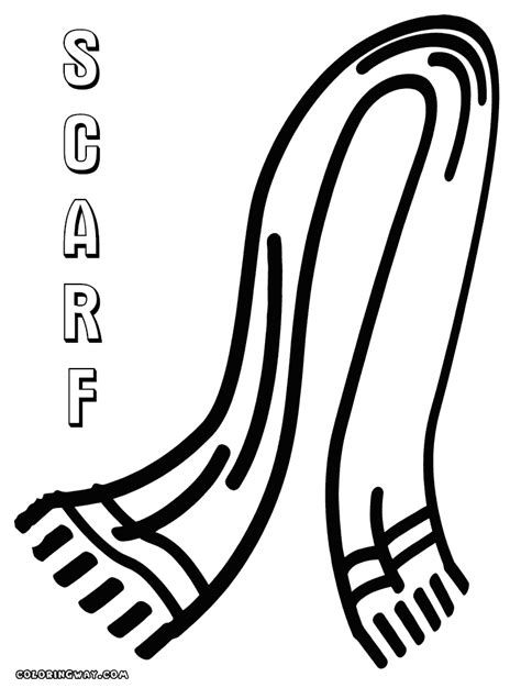 scarf coloring pages coloring pages to download and print