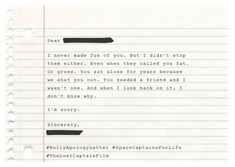 Apology Letter To Dear Friend Bully Apology Letters